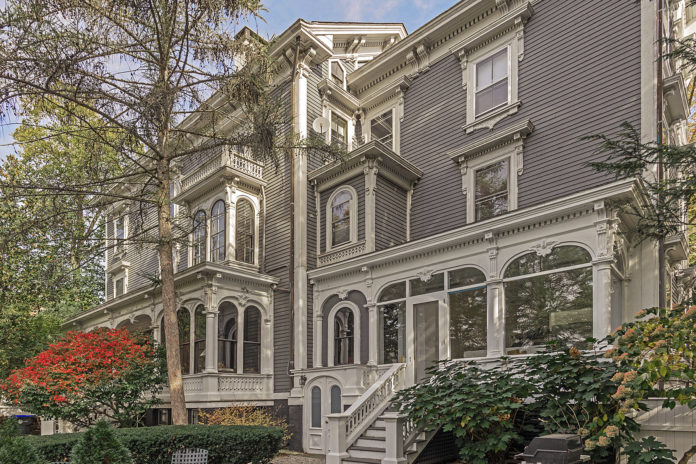 THIS MULTIFAMILY HOME at 13 Cushing St. in Providence sold recently for $1.14 million, the highest sale of a multifamily home in the College Hill neighborhood in more than two years. / COURTESY MOTT & CHACE SOTHEBY'S INTERNATIONAL REALTY