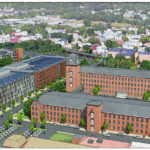 A RENDERING of a proposed site for the second North American Amazon.com Inc. headquarters in the Pawtucekt Central Falls Train District. / COURTESY CENTRAL FALLS