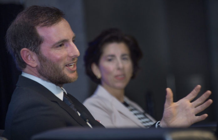 JOE GEBBIA, co-founder of Airbnb and a RISD graduate, said his time at the Providence-based design school helped him grow the accommodation sharing company./COURTESY GREATER PROVIDENCE CHAMBER OF COMMERCE/ CONSTANCE BROWN