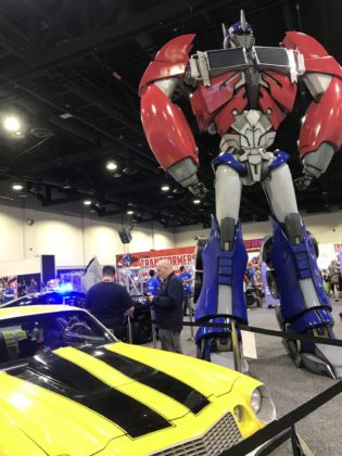 A Transformer greats guests at Hasbro's HasCon.. PBN PHOTO/NICOLE DOTZENROD