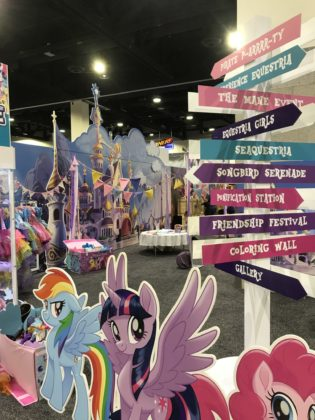 A portion of HasCon's main exhibition area is dedicated to its brand My Little Pony. PBN PHOTO/NICOLE DOTZENROD