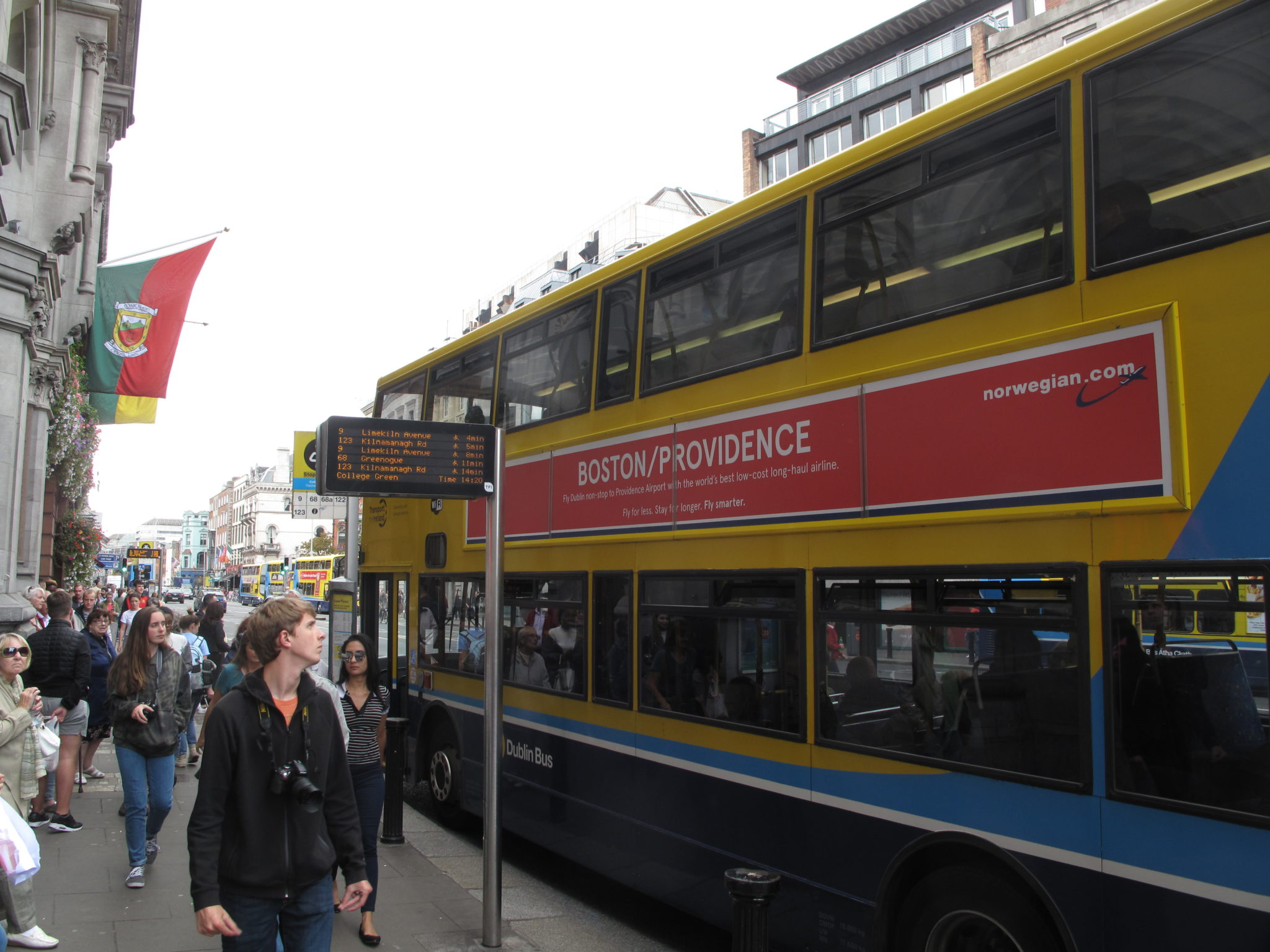 NORWEGIAN AIRLINES, which is running ads on public transit buses in Dublin, Ireland, would be eligible for reimbursement for the campaign under the Air Service Development Fund program. / PBN PHOTO/MARK S. MURPHY