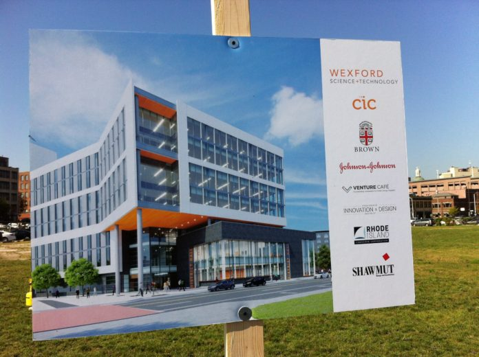 A rendering of the Wexford Innovation Center building./PBN PHOTO MARY MACDONALD