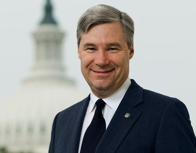 "SEN. SHELDON WHITEHOUSE, D-R.I., has backed Sen. Bernie Sanders, I-Vt., and his ""Medicare for All"" single-payer health care reform while continuing to explore a publicly operated health insurance option he co-sponsored in January with Sens. Sherrod Brown, D-Ohio, and Al Franken, D-Minn. / COURTESY OFFICE OF U.S. SEN. SHELDON WHITEHOUSE"