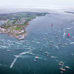 THE VOLVO OCEAN RACE begins Sunday. The Newport in-port race is scheduled for May 19, 2018. Above, a photo of the in-port activities during the race's 2015 visit to Newport. / COURTESY VOLVO OCEAN RACE/AINHOA SANCHEZ