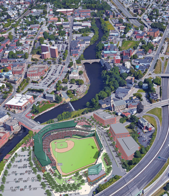 THE PROPOSED STADIUM construction legislation, with revisions, is drawing concern from the Pawtucket Red Sox. / COURTESY PAWTUCKET RED SOX