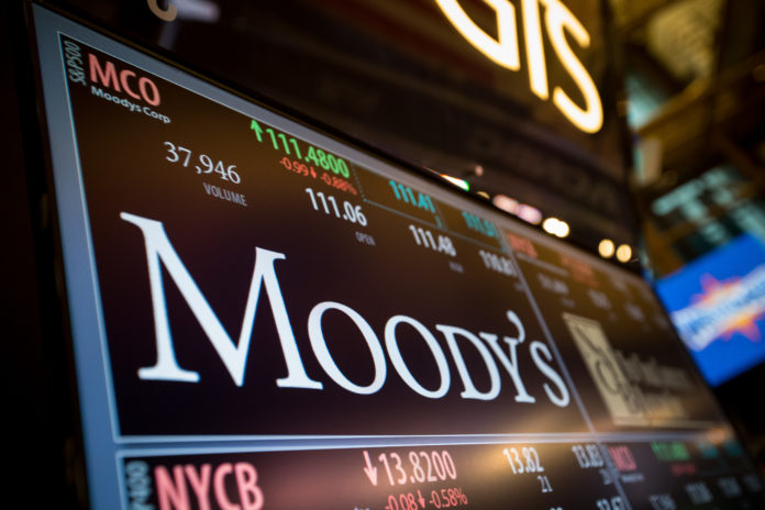 MOODY'S INVESTORS SERVICE has raised the city of Woonsocket's bond rating by three notches, reflecting the city's improved financial position. / BLOOMBERG FILE PHOTO/MICHAEL NAGLE