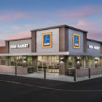 A RENDERING SHOWS one of the renovated Aldi stores. The Cranston supermarket at 1138 Pontiac Ave. will reopen on Thursday following a renovation to modernize the interior and create more space for fresh food items, including dairy, produce and bakery goods. / COURTESY ALDI