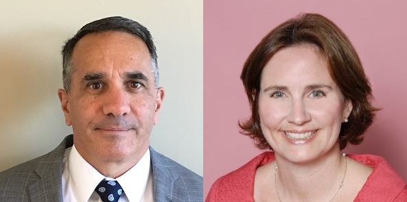 GOV. GINA M. RAIMONDO has appointed Mark A. Furcolo, left, director of the R.I. Department of Revenue, and Elizabeth M. Tanner, right, the director of the Department of Business Regulation. / COURTESY GOVERNOR'S OFFICE