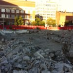 The Procaccianti Group has demolished the former Fogarty building, but construction of a new hotel on the downtown site has not yet started./PBN PHOTO MARY MACDONALD