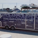 SETH WISEMAN, designer and development manager for the Rhode Island Mobile Maker Lab, will speak at this month's Providence Geeks event. Above, the 28-foot trailer that houses the lab. / COURTESY IYRS SCHOOL OF TECHNOLOGY & TRADES