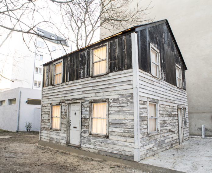 THE ROSA PARKS HOUSE was moved to Berlin from Detroit, but will be coming to Providence early next year as an installation. / COURTESY FABIA MENDOZA