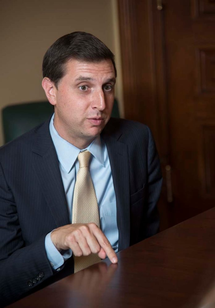 GENERAL TREASURER SETH MAGAZINER is in charge the state pension fund and how it is invested./ PBN FILE PHOTO/MICHAEL SALERNO