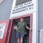 FAMILY-OWNED: Pier Ice Plant in Narragansett was founded June 15, 1966, by owner Robert Shumate, above, and his father, Lawrence. Robert Shumate is a member of the Narragansett Indian Tribe. He says he was lucky to grow up in a family that owned its own business. / PBN PHOTO/