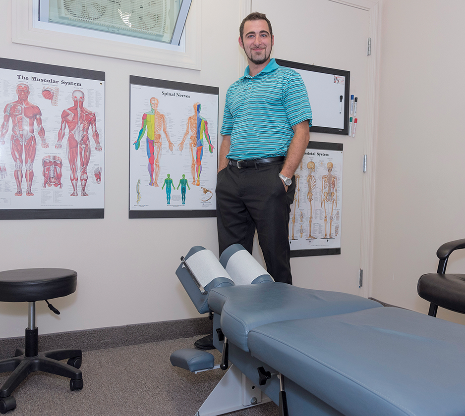 "WHOLE-BODY WELLNESS: Dr. Benjamin Algiere, owner of Algiere Chiropractic in Richmond, opened his own practice to focus on ""whole-body wellness, rather than just necks and backs."" / PBN FILE PHOTO/MICHAEL SALERNO"