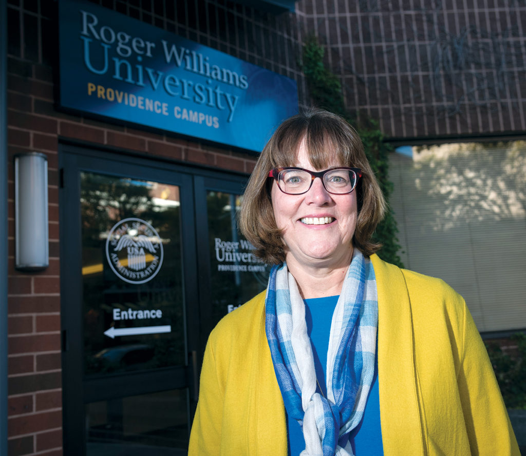 CLOSE TO HOME: Judith Savage, Roger Williams University School of Law distinguished juris in residence, in 2015 organized a forum at RWU that focused on problems associated with mass incarceration, in an effort to localize what had become a growing national debate.   / PBN FILE PHOTO/­MICHAEL SALERNO