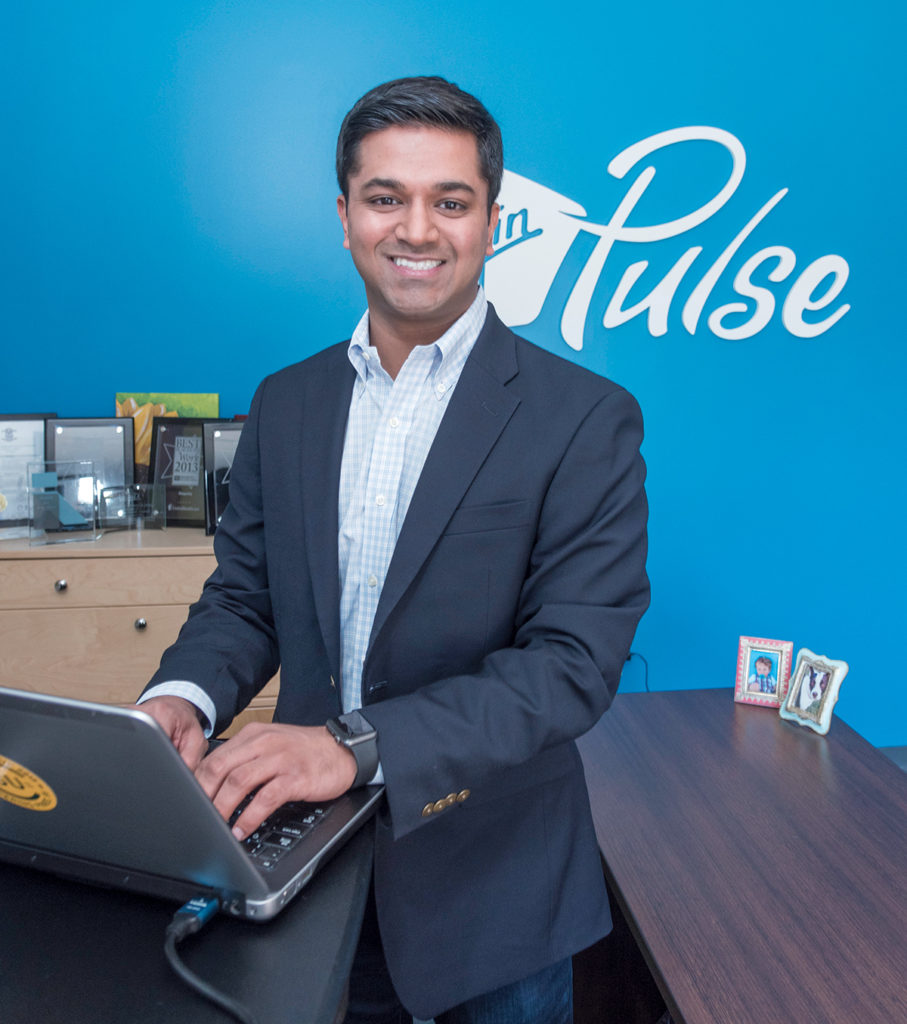 A GOOD SALESMAN: Virgin Pulse's decision to move its headquarters to Providence from Framingham, Mass., was instigated by Dr. Rajiv Kumar, who sold company executives on taking a look at the city to accommodate expansion plans.  / PBN FILE PHOTO/­MICHAEL SALERNO