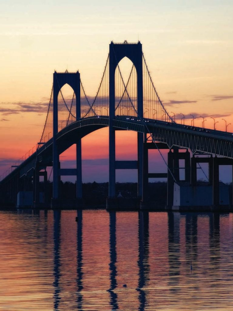 THE FIRST STAGE OF the Newport Pell Bridge deck repair project has been completed. / COURTESY RITBA