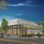 THE URBAN GREENS Food Co-op grocery store will be one of two buildings as part of a mixed-use construction project at 93 Cranston St. in Providence, which recently received a $4.5 million loan from Bank Rhode Island to finance the project. / RENDERING COURTESY URBAN GREENS