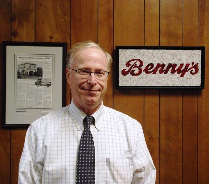 ARNOLD BROMBERG, president and co-founder of Benny's, says he's pleased with an agreement reached with the Carpionato Group LLC, a Johnston-based property management and development company, to purchase Benny's real estate holdings. / COURTESY BENNY'S