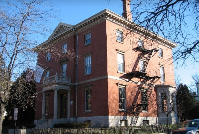 THE BROWN FACULTY CLUB building, at 1 Magee St. in Providence, is the most notable building on the street. City Councilman Sam Zurier has introduced a resolution to rename the street Bannister Street. / COURTESY ASSOCIATION OF COLLEGE AND UNIVERSITY CLUBS