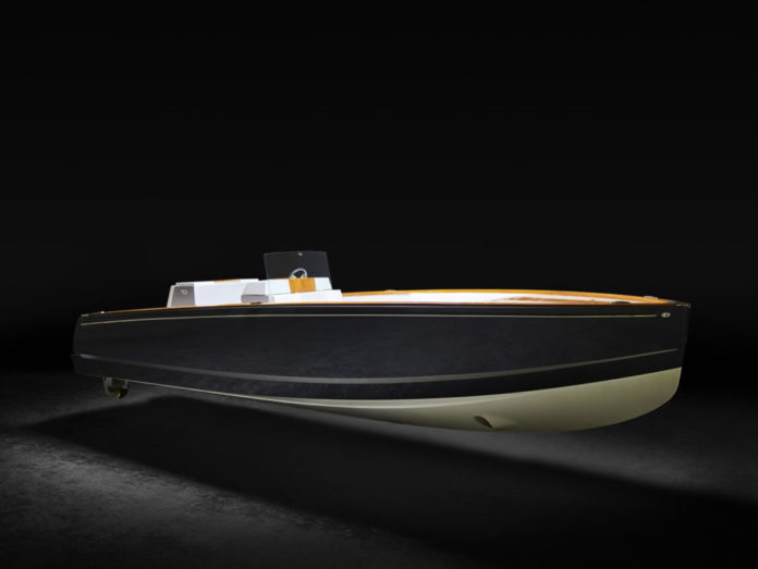 THE HINCKLEY CO. celebrated its design for the world's first fully electric luxury yacht, the Hinckley Dasher, at the Fort Lauderdale International Boat Show in Florida. / COURTESY THE HINCKLEY CO.