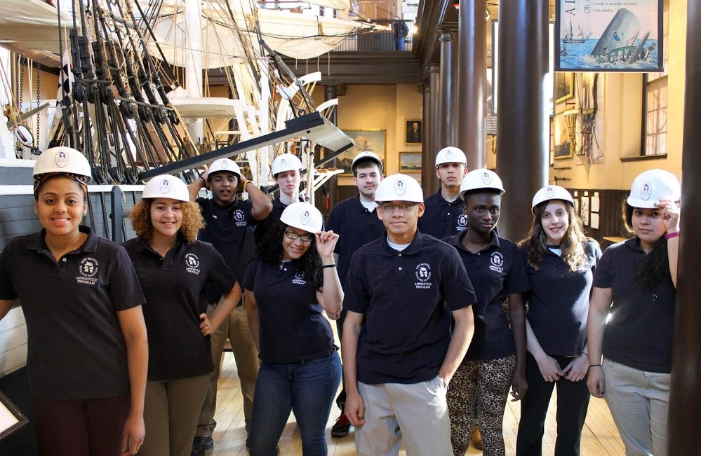 THE NEW BEDFORD Whaling Museum's high school apprenticeship program was named a 2017 National Arts and Humanities Youth Program Award - one of 12 organizations honored across the nation. / PHOTO COURTESY NEW BEDFORD WHALING MUSEUM