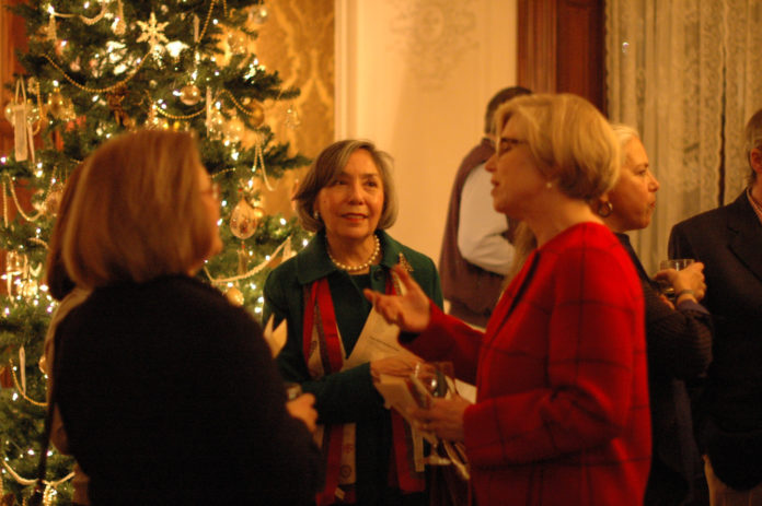 GUESTS ENJOY THE annual Christmas Scotch Tasting Party at the Lippitt House Museum in Providence. This year's event will be held on Dec. 7 from 6 to 8 p.m. / COURTESY LIPPITT HOUSE MUSEUM
