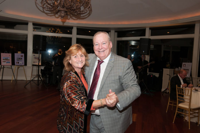 REP. DEBORAH RUGGIERO, D-Jamestown, with Newport Mental Health CEO Jamie Lehane at the fourth annual Rock the Mansion gala on Oct. 19, which raised over $56,000 for Newport Mental Health. / COURTESY NEWPORT MENTAL HEALTH