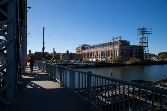 BROWN UNIVERSITY RECENTLY began moving its administration departments into the newly-renovated South Street Landing facility, which can be seen from Providence's Point Street Bridge. / COURTESY BROWN UNIVERSITY/NICK DENTAMARO