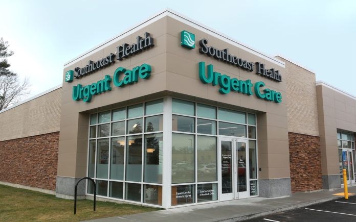 LAWSUITS BETWEEN Southcoast Health and Steward Health Care System have been dropped. The lawsuit by Southcoast and the counter-suit by Steward were over Steward's offering of diagnostic cardiac catheterization at St. Anne's Hospital. Above a Urgent Care Center has opened at 435 State Road in Dartmouth. / COURTESY SOUTHCOAST HEALTH