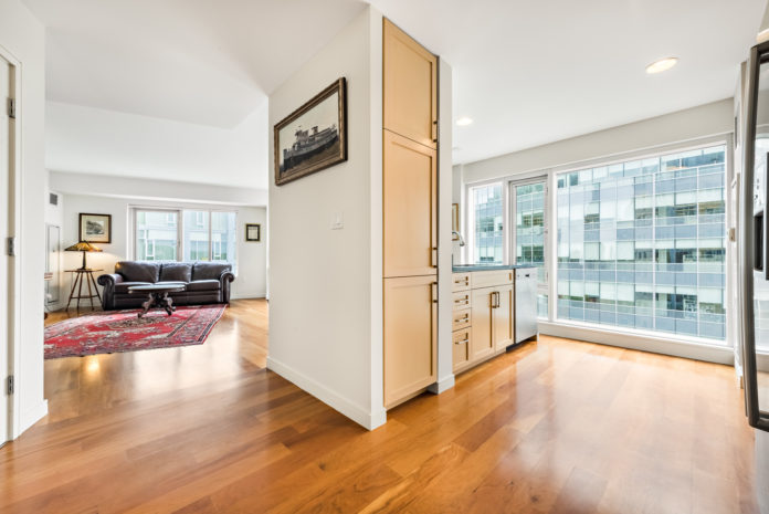 THE INTERIOR OF a unit at Waterplace in Providence, which sold recently for $845,000, the highest price in the Waterplace condominium towers this year. / COURTESY MOTT & CHACE SOTHEBY'S INTERNATIONAL REALTY
