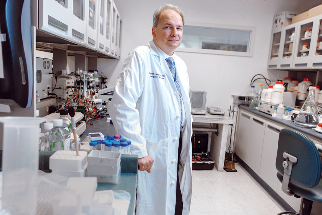 FURTHER STUDY: Dr. Gregory D. Jay, owner of Lubris LLC, has been investigating lubricin, a glycoprotein recently licensed to Novartis for use as a dry-eye treatment. Jay is looking into lubricin's potential as a treatment for damaged joints and abdominal scarring prevention.  / PBN FILE PHOTO/RUPERT WHITELEY