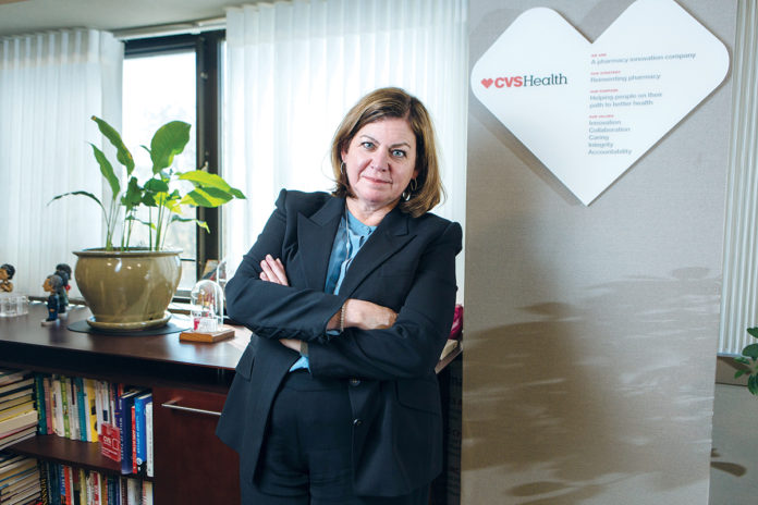 BOLD MOVE: Lisa Bisaccia, executive vice president and chief human resources officer for CVS Health, was part of the leadership team behind the company's unprecedented decision to stop selling tobacco products in its stores. / PBN PHOTO/RUPERT WHITELEY