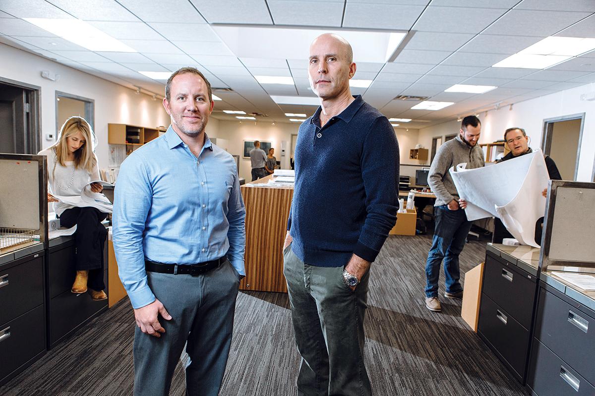 Matt Dempsey, left, and Peter Crump. / PBN PHOTO/RUPERT WHITELEY