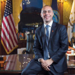 Providence Mayor Jorge O. Elorza has blazed a singular career path. Child of Guatemalan immigrants, he attended Harvard Law School, taught law at Roger Williams University and became a Providence Housing Court judge before being elected mayor in 2014.  / PBN PHOTO/RUPERT WHITELEY