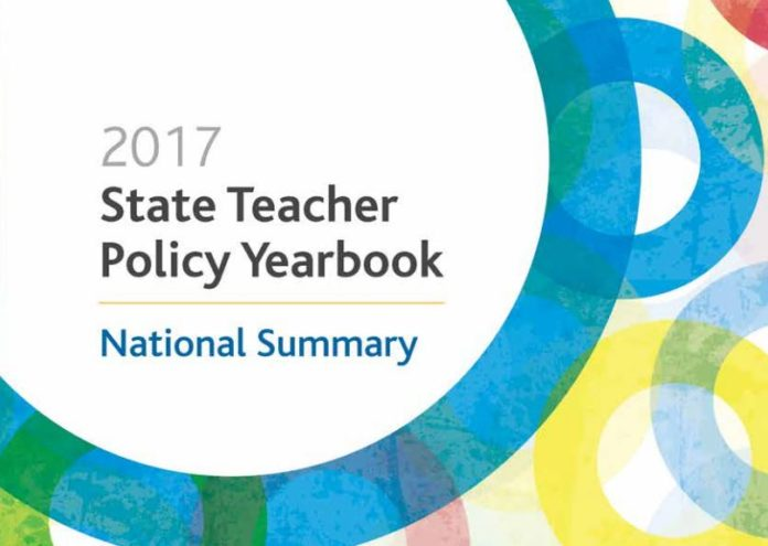 RHODE ISLAND SCORED AMONG the top five states in the United States with a B in the 2017 State Teacher Policy Yearbook from the National Council on Teacher Quality. / COURTESY NATIONAL COUNCIL ON TEACHER QUALITY