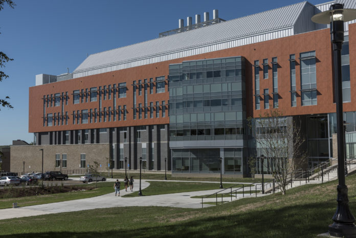 THE BEAUPRE CENTER for Chemical and Forensic Sciences is the latest facility at the University of Rhode Island to achieve a Leadership in Energy and Environmental Design Gold certification. / COURTESY UNIVERSITY OF RHODE ISLAND