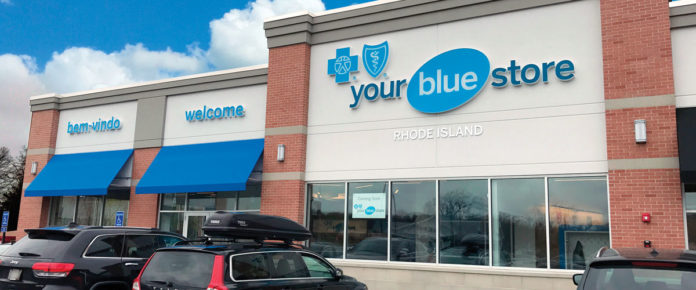 THE YOUR BLUE STORE location in East Providence. Blue Cross & Blue Shield of Rhode Island offers advisers to assist customers with buying health insurance at its Your Blue Store locations in East Providence, Warwick and Lincoln. / COURTESY BLUE CROSS & BLUE SHIELD OF RHODE ISLAND