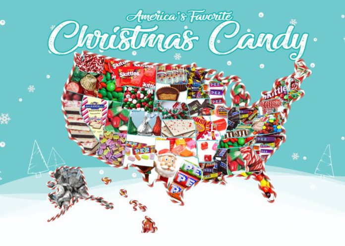 RHODE ISLAND'S favorite Christmas candy is M&M's. / COURTESY CANDYSTORE.COM