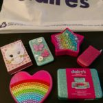 CLAIRE'S HAS RECALLED 12 products after a North Carolina lab reported finding asbestos in samples of each from nine cities. / COURTESY DEATON LAW FIRM