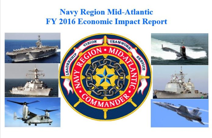 THE NAVAL STATION NEWPORT accounted for $1.3 billion in direct economic impact in fiscal 2016. / COURTESY NAVY REGION MID-ATLANTIC