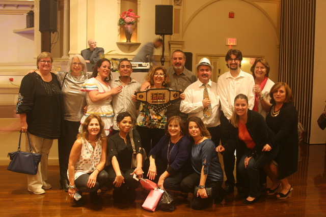 "MEMBERS OF THE winning ""Copacabana"" team at Grace Barker Health include, back row from left: Deb Whitmore, Cheryl Brickach, Liz Costa, Jose Melo, Mary Beth Lescault, Mark Lescault, Clem Rocha, Ethan Lescault and Jayne Jamiel. Front row from left: Joan Alfano, Aline Melo, Karen Borges, Paula Lage, Kelly Borges and Maria Hiotelis. / COURTESY GRACE BARKER HEALTH"