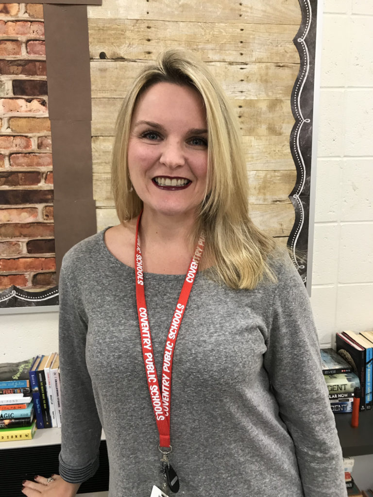LAUREN HOPKINS, an English teacher and literacy specialist at Coventry High School, won the 2017 Milken Family Foundation Educator award for Rhode Island. / COURTESY LAUREN HOPKINS