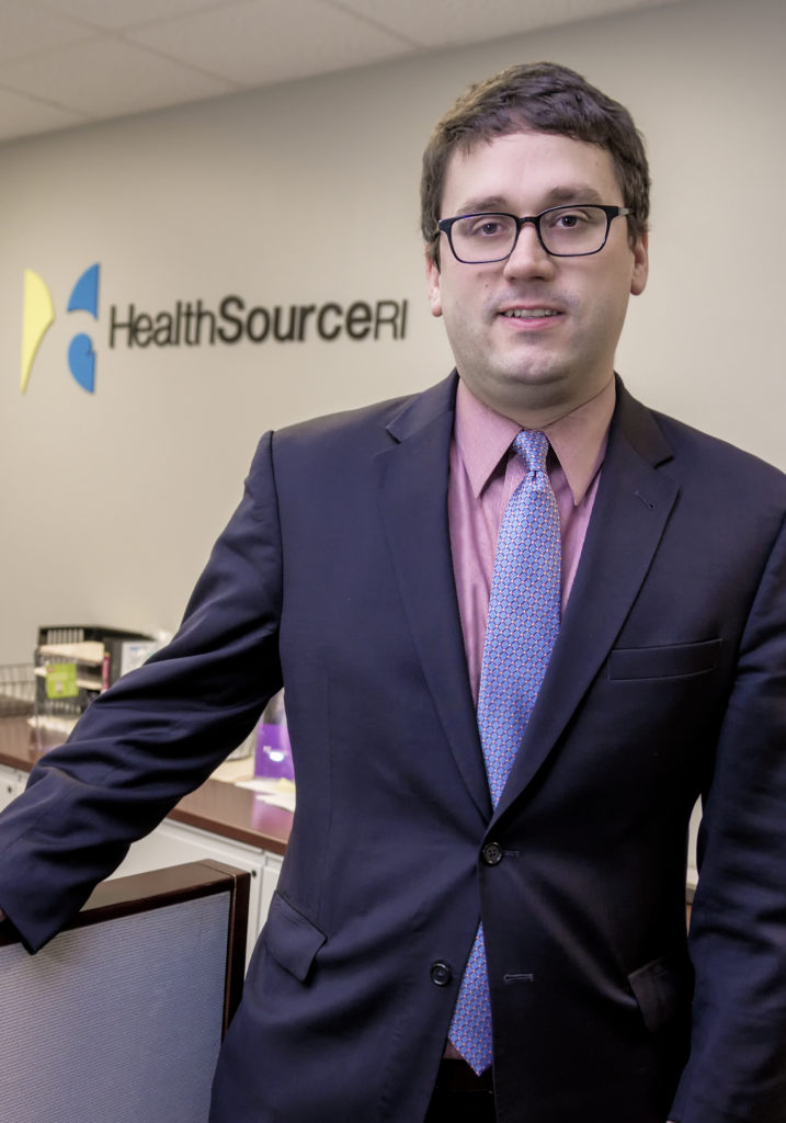 ZACHARY SHERMAN, director of Health Source RI. / PBN PHOTO/MICHAEL SALERNO