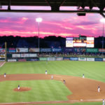 PAWTUCKET MAYOR DONALD R. GREBIEN called on the General Assembly to pass legislation to fund a new Pawtucket Red Soc stadium in the city. / COURTESY PAWTUCKET RED SOX/KELLY O'CONNOR