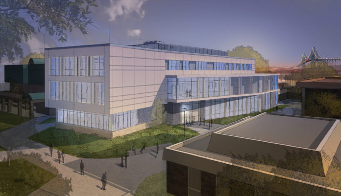 THE ROGER WILLIAMS UNIVERSITY board of trustees gave final approval to the construction of a new School of Engineering, Computing and Construction Management building on its Bristol campus. / COURTESY ROGER WILLIAMS UNIVERSITY
