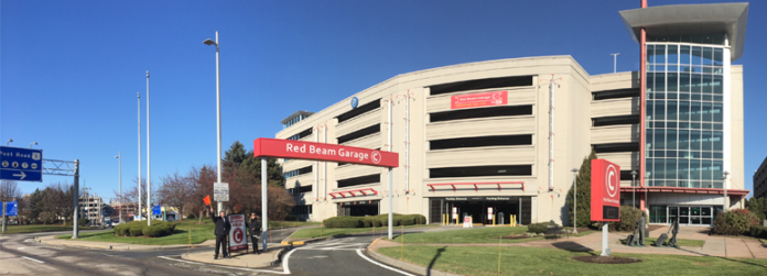 THE RED BEAM Garage C at T.F. Green Airport has reopened and is offering a parking fee of $9.95 per day for covered parking. / COURTESY RED BEAM GARAGE