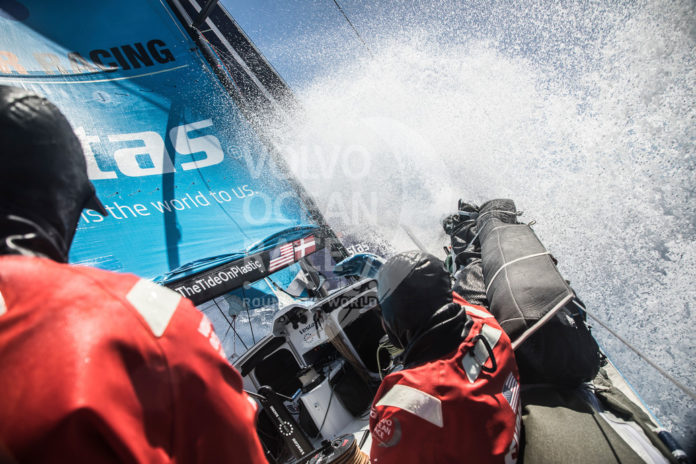 VESTAS 11TH HOUR RACING placed third in the third leg of the Volvo Ocean Race. / COURTESY VOLVO OCEAN RACE/MARTIN KERUZORE