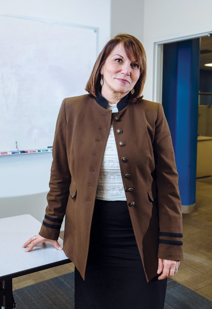 After spending the majority of her career focused on metrics and sales at General Mills, Cathy Doyle joined the nationally renowned workforce-development nonprofit Year Up in 2012 to lead corporate partnerships with employers such as Amica Mutual Insurance Co., Hasbro Inc. and Lifespan Corp. / PBN PHOTO/RUPERT WHITELEY